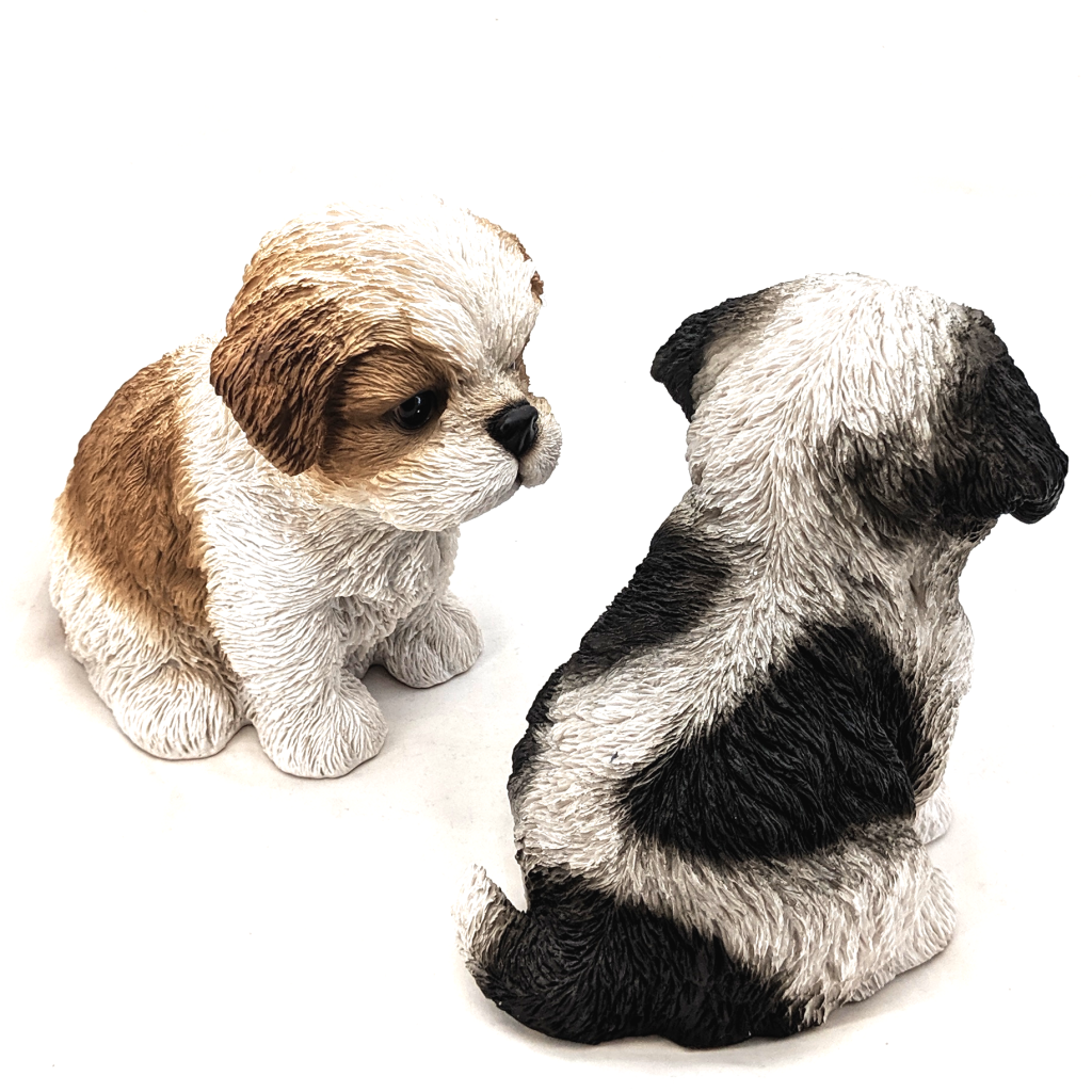 Maltese Puppy Figurines