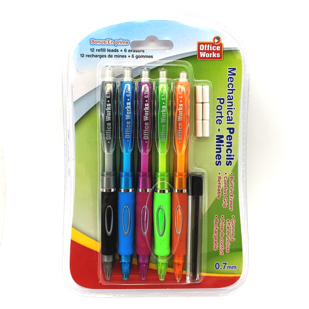 Mechanical Pencil 5-Pack