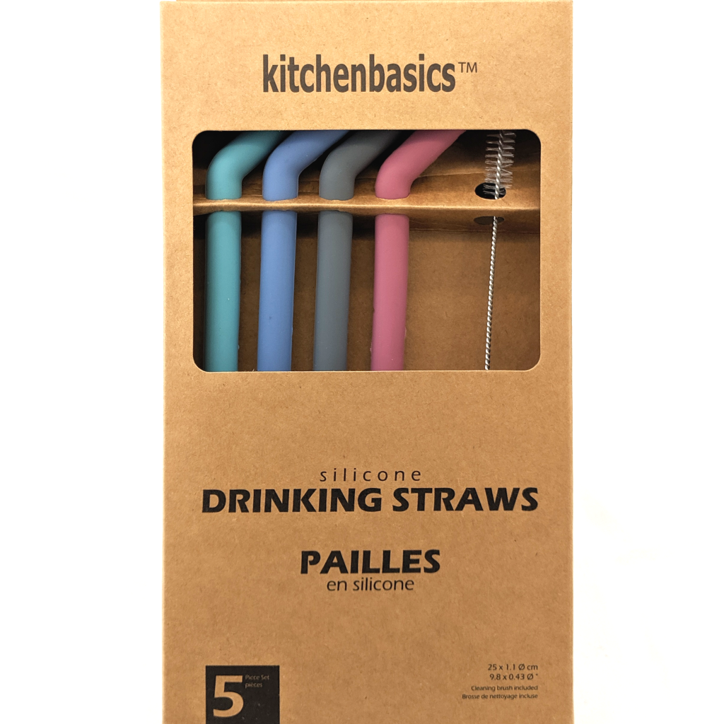 Silicone Drinking Straw Set (Large Size)