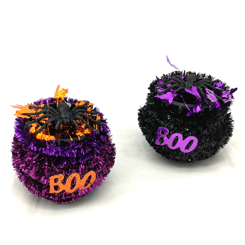 Halloween Tinsel Table Decoration
