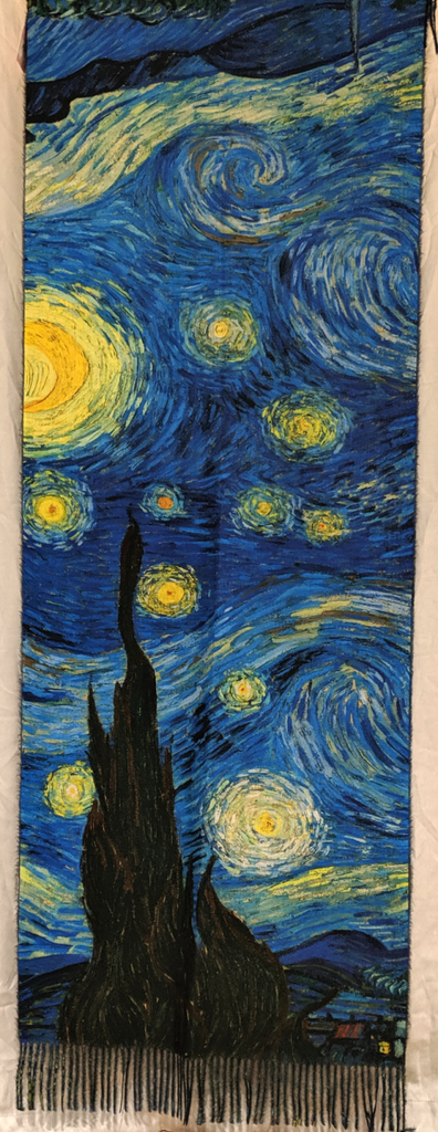 Oil Painting Scarf: Starry Night