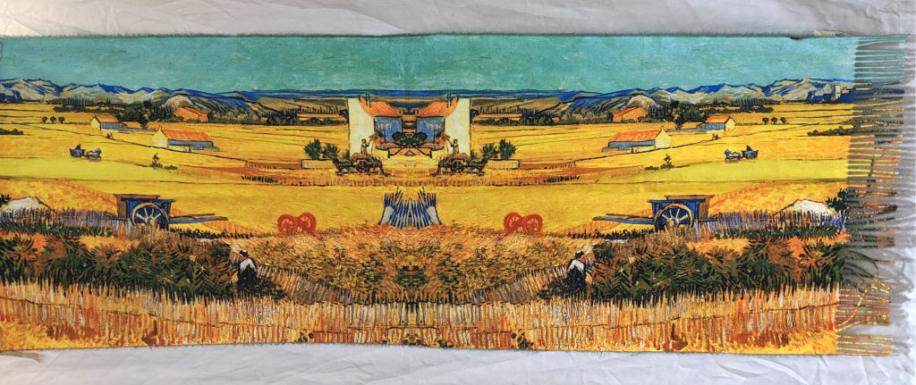 Oil Painting Scarf: Fields