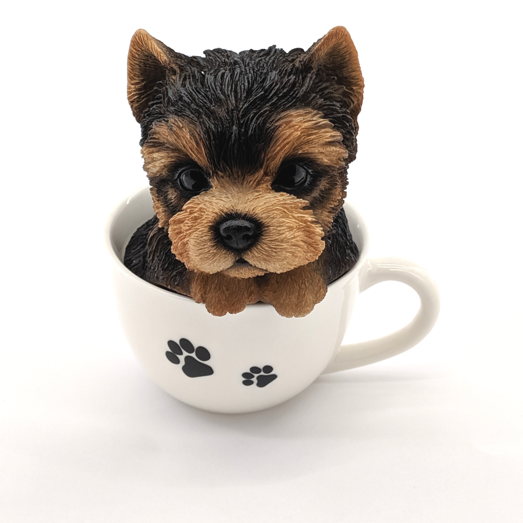 Yorkshire Puppy in Teacup Figurine