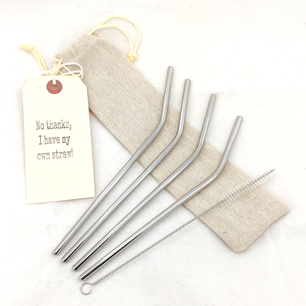 Stainless Steel Straw 4-Pack
