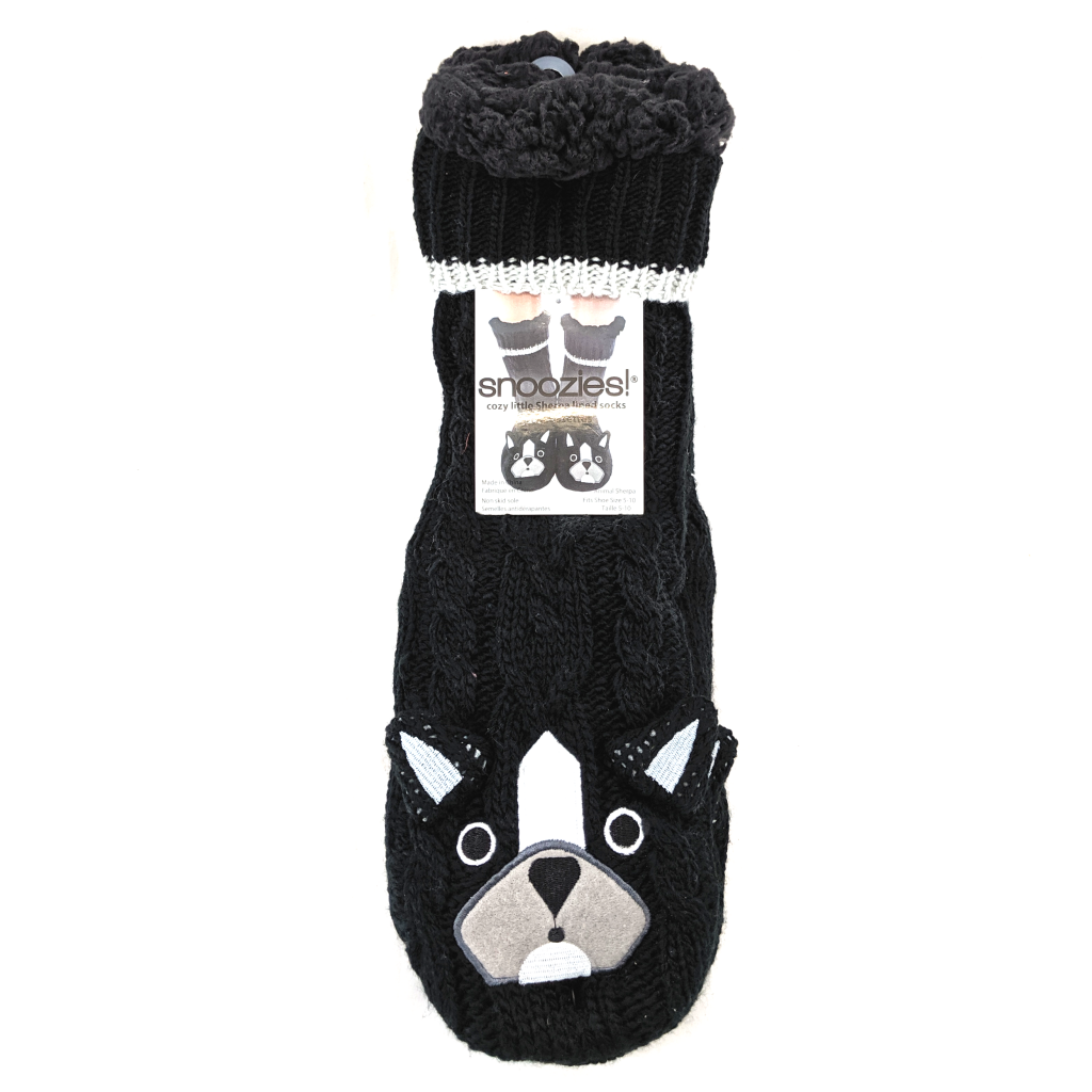 Snoozies French Bulldog Sherpa Socks