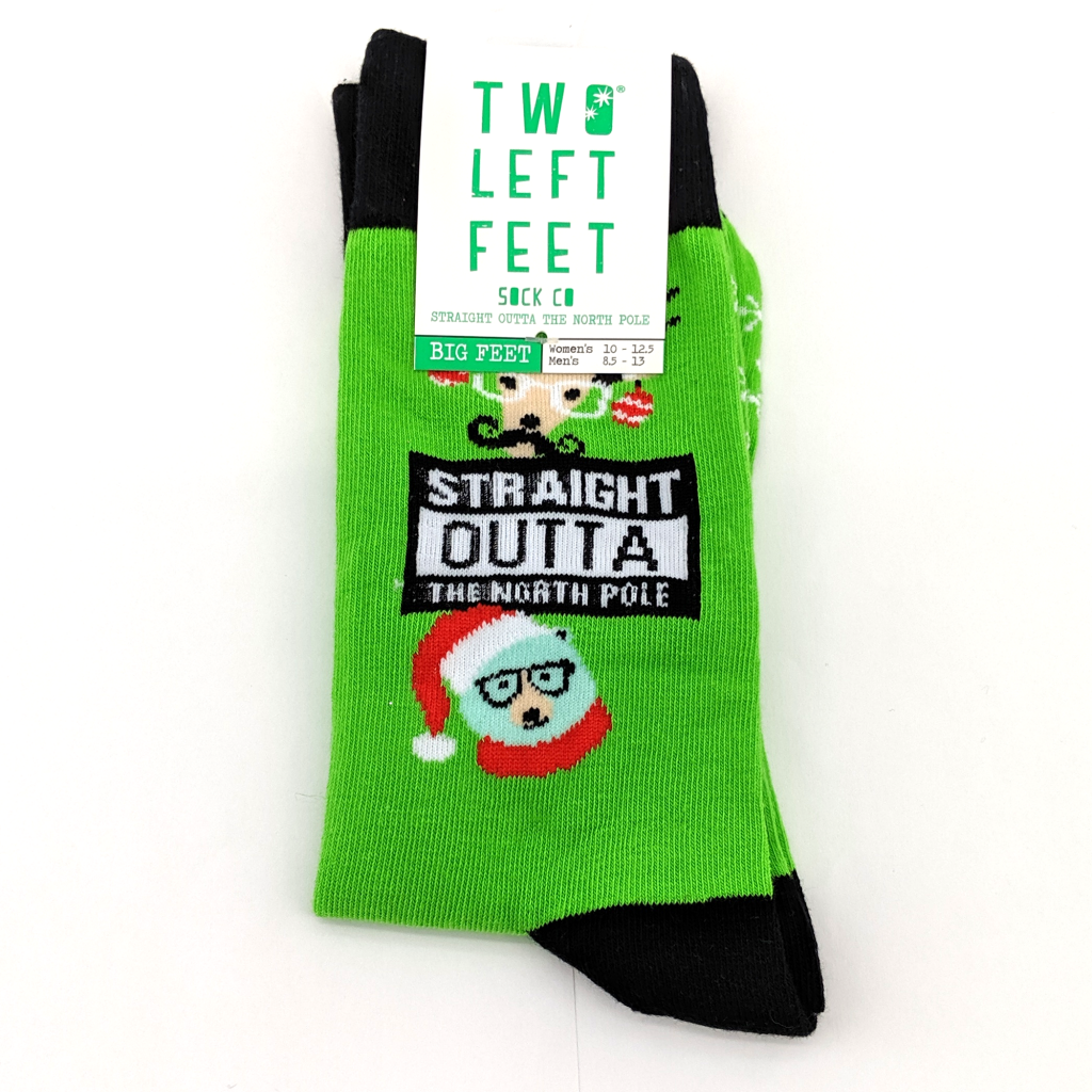 Two Left Feet: Straight Outta the North Pole Socks