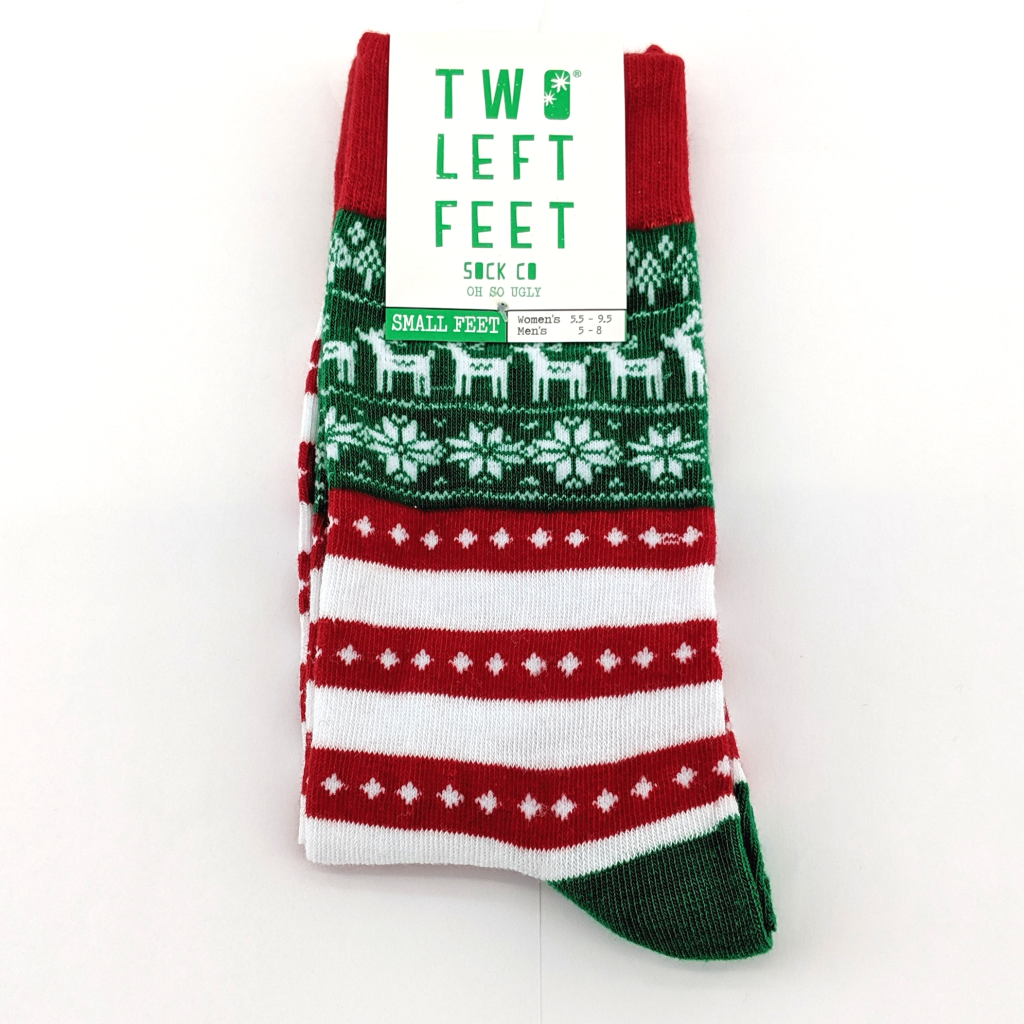 Two Left Feet: Ugly Sweater Socks