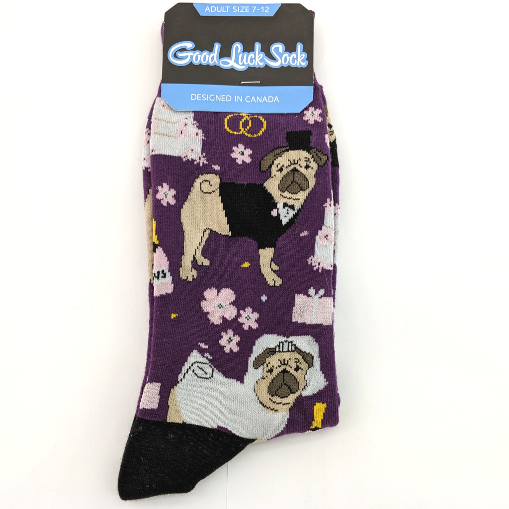 Good Luck Sock: Wedding Pugs