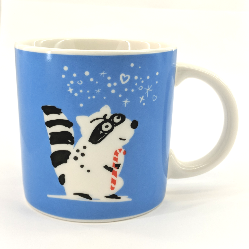 Holiday Raccoon Mug