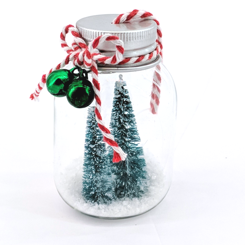 Trees in a Bottle Ornament
