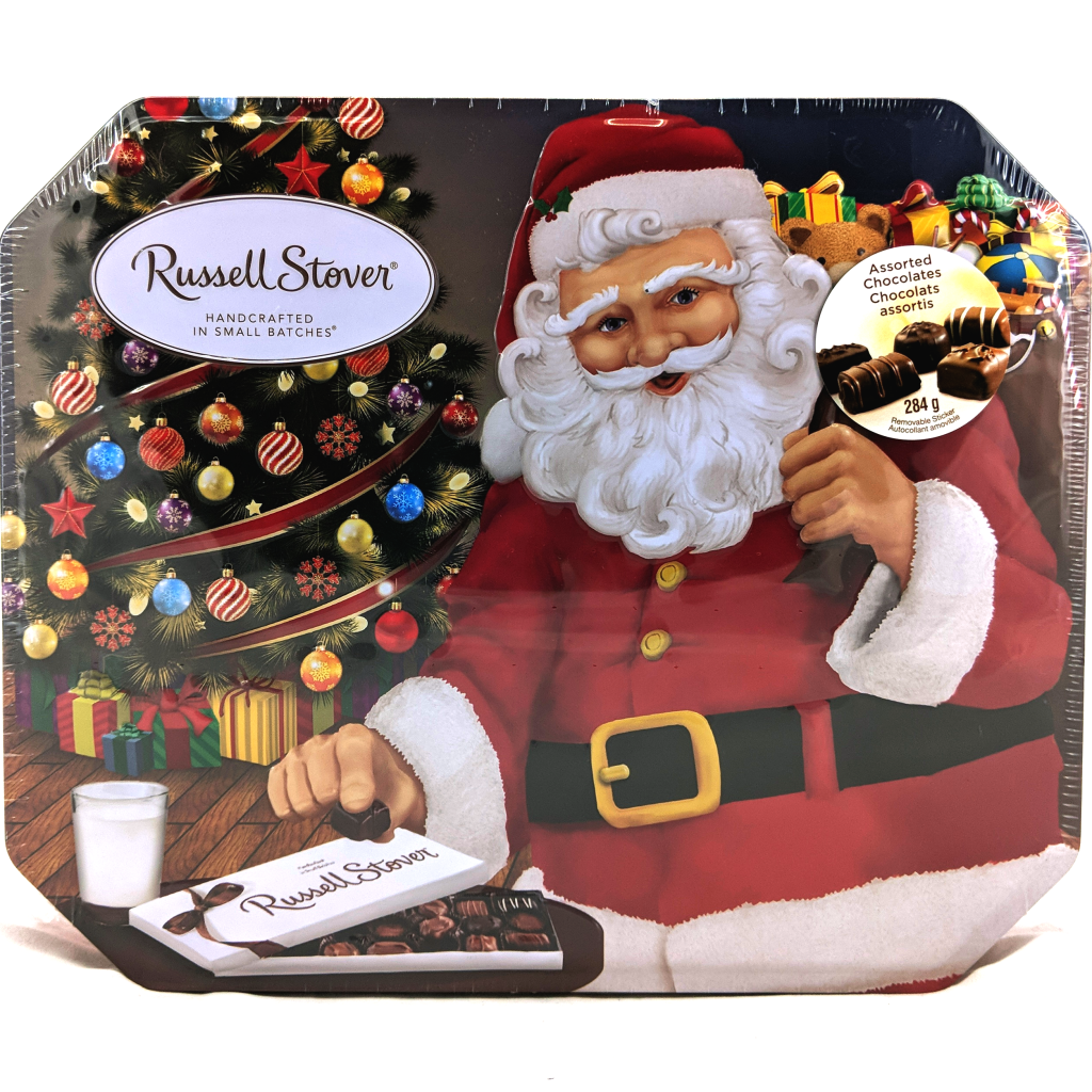 Russell Stover Santa Collector's Tin of Assorted Chocolates (284g)