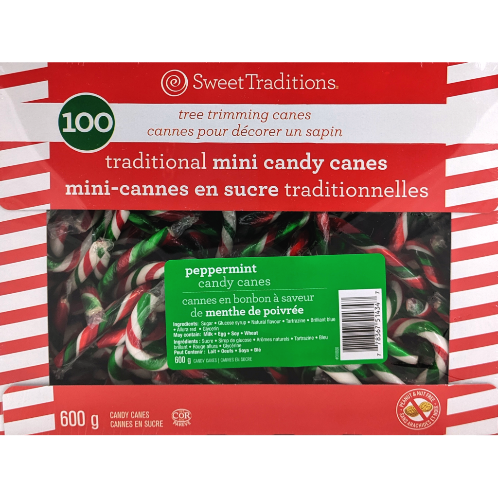 100 Traditional Mini Candy Canes (600g)
