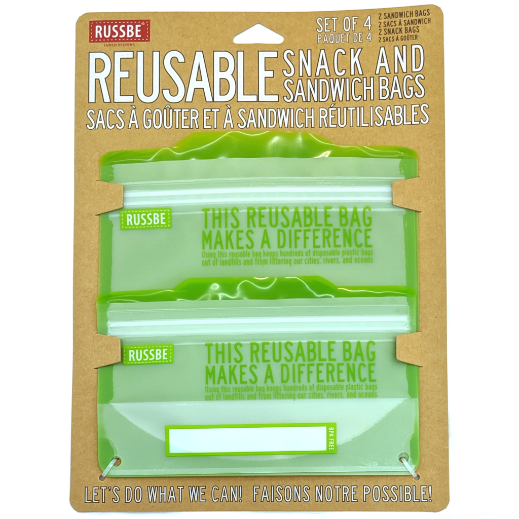 Reusable Sandwich Bags (Set of 4)