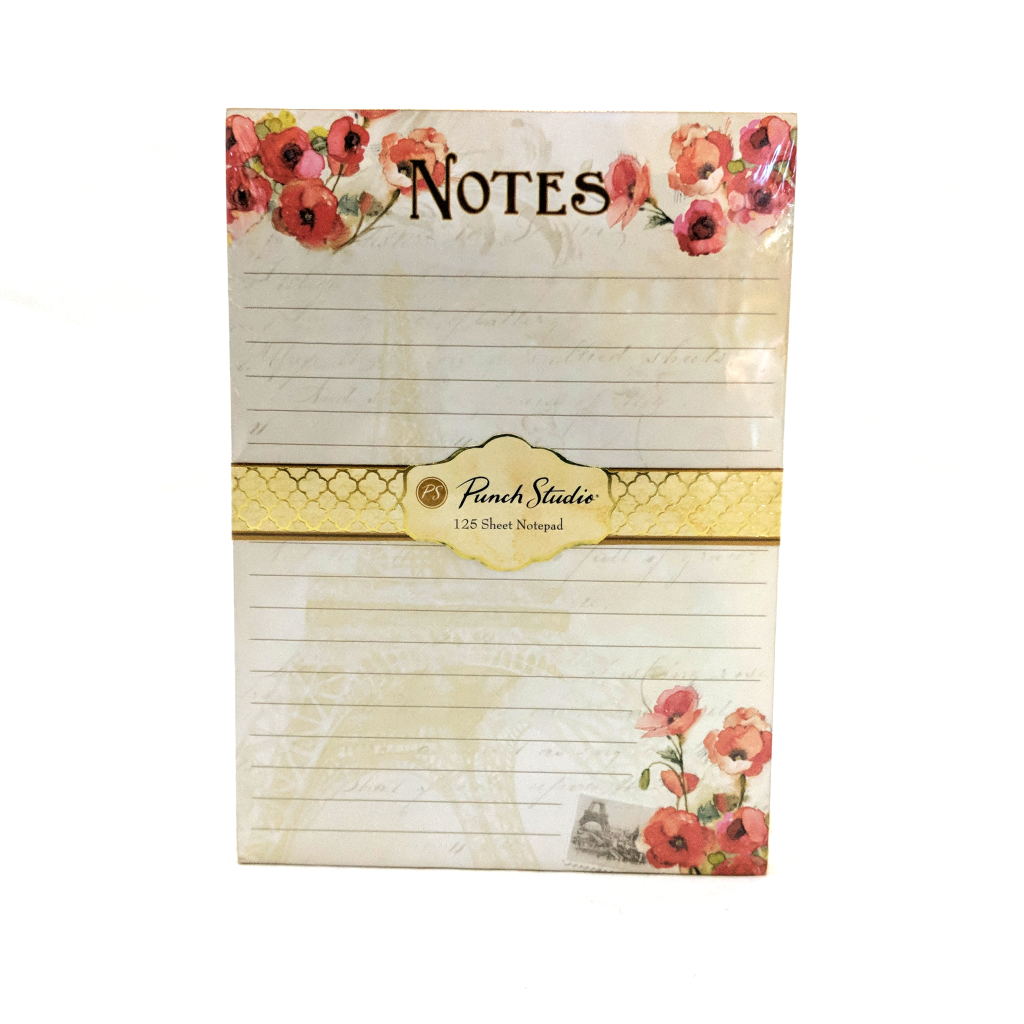 Gilded Poppy Lined Notepad