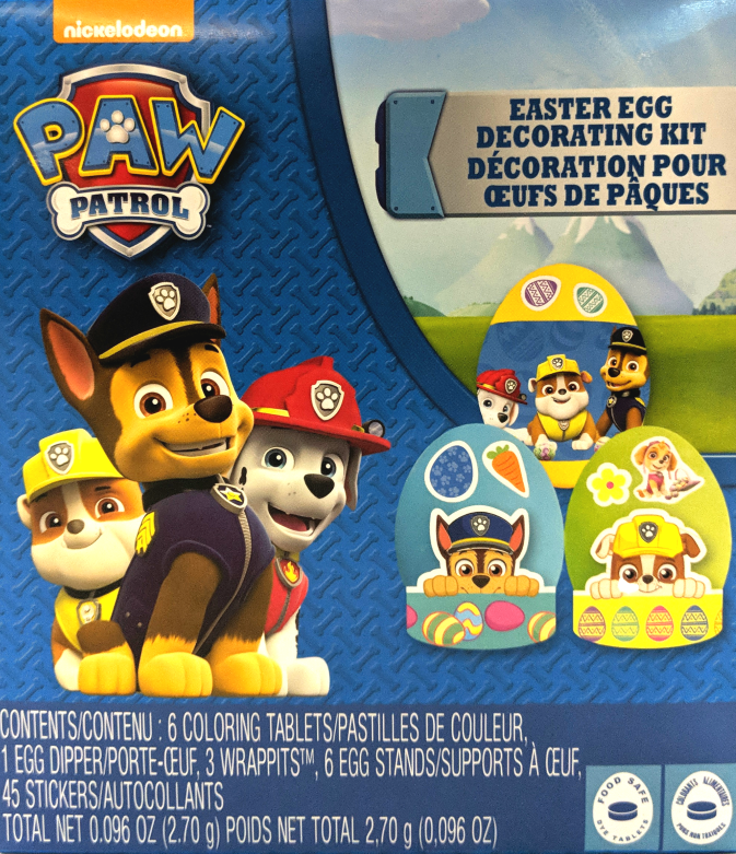 Paw Patrol Easter Egg Decorating Kit
