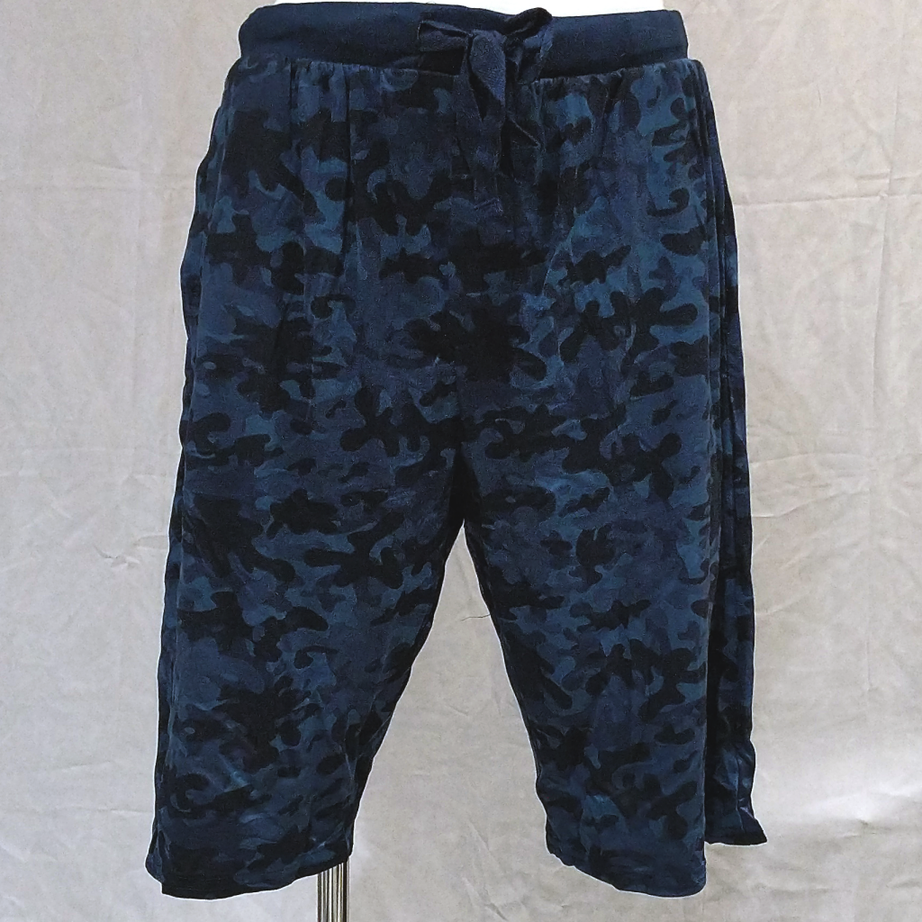 Men's Blue Camo Pajama Shorts