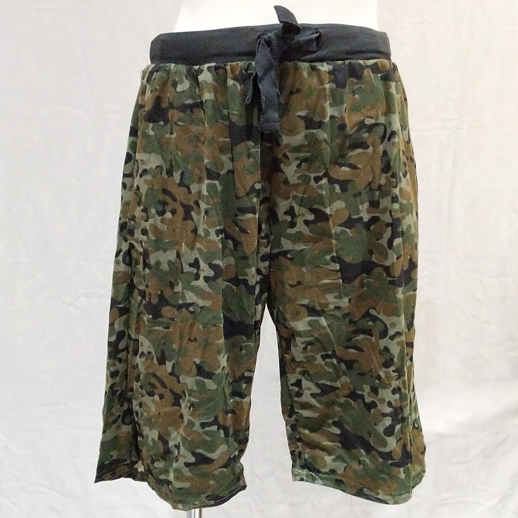 Men's Green Camo Pajama Shorts