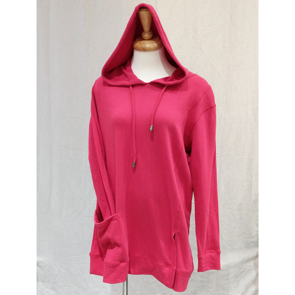Cozy Hooded Sweater - Magenta