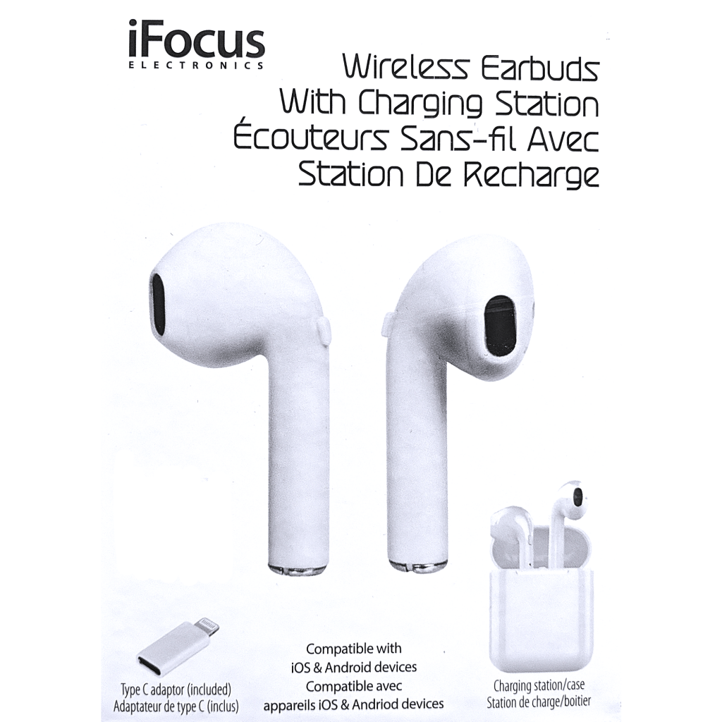 iFocus Wireless Earbuds & Charging Station