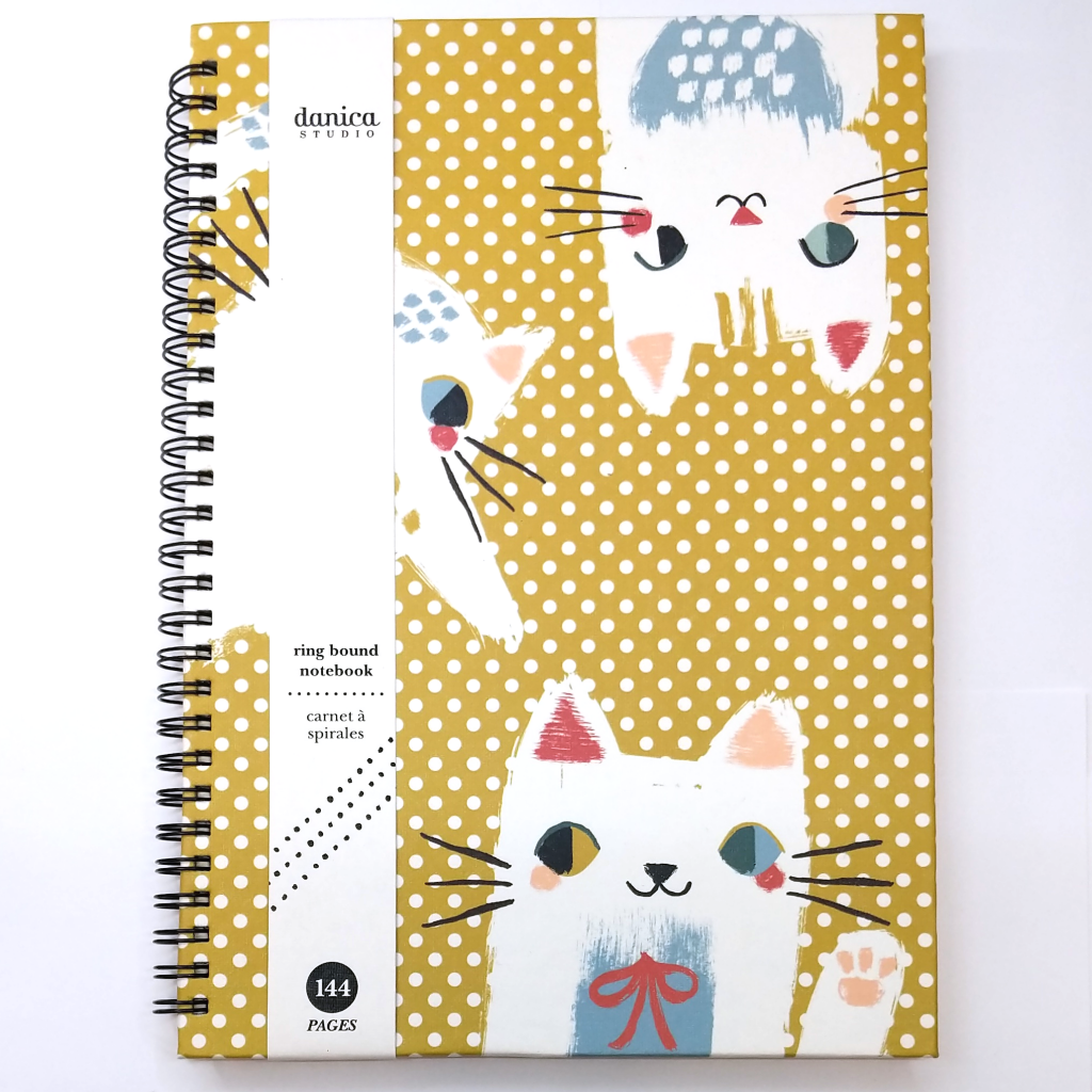 Polka Dot Cat Ring Notebook