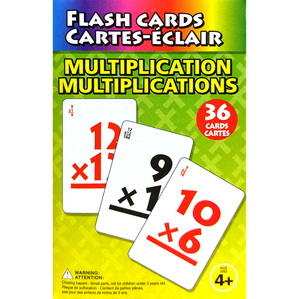 Flash Cards: Addition, Subtraction, Multiplication, Division (Ages 4+)