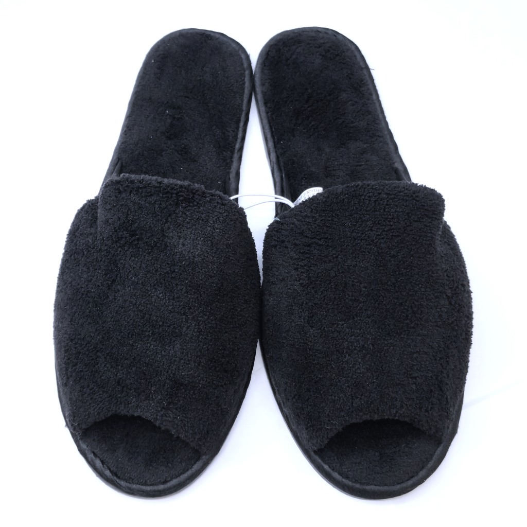 Tender Tootsies Simple Slipper (Black)