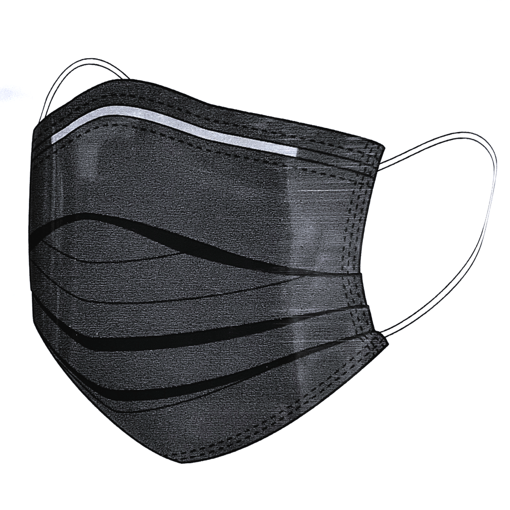 Disposable Black Face Mask (Pack of 10)