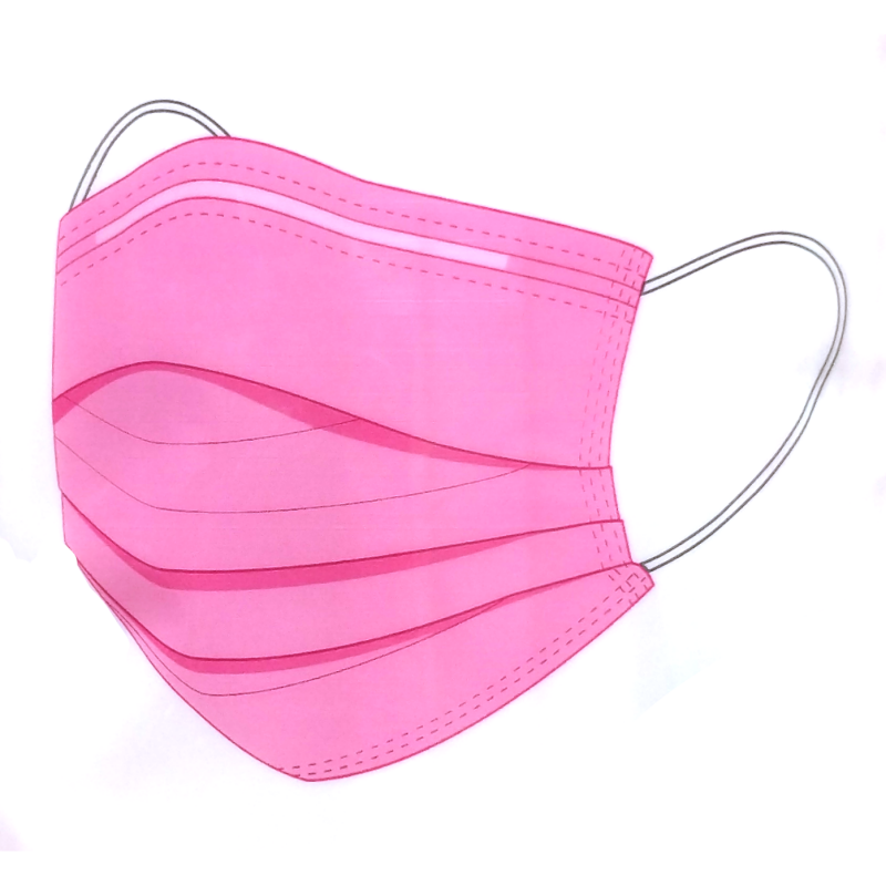 Disposable Pink Face Mask (Pack of 10)