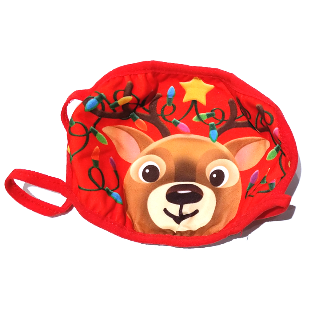 Kurt Adler Holiday Reindeer Face Mask (Two Sizes)