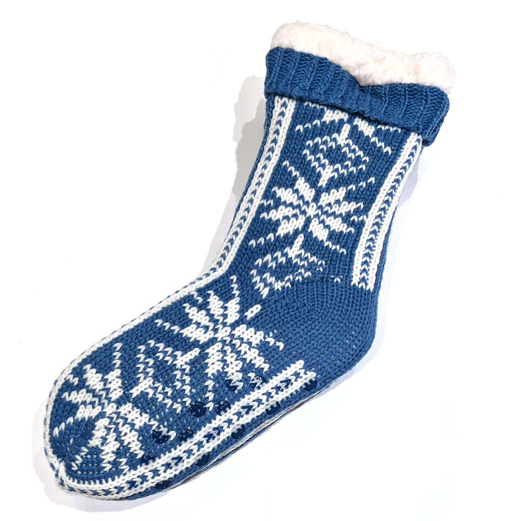 Snoozies Socks: Big Flake Blue