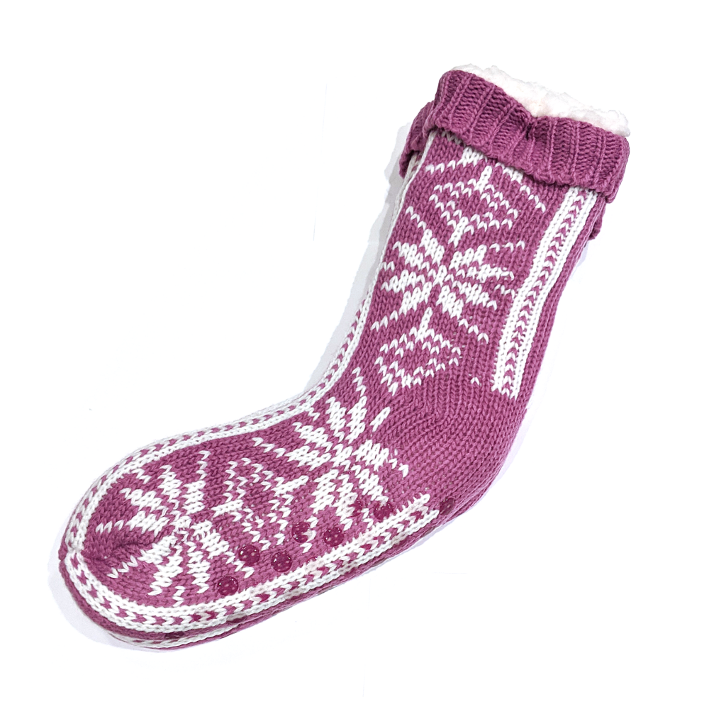 Snoozies Socks: Big Flake Pink