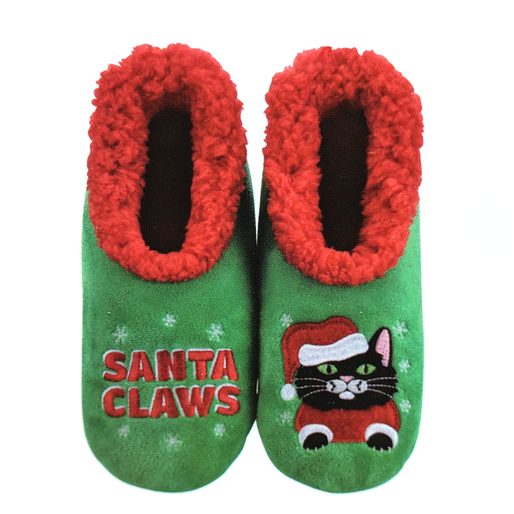 Snoozies: Santa Claws Cat Slippers