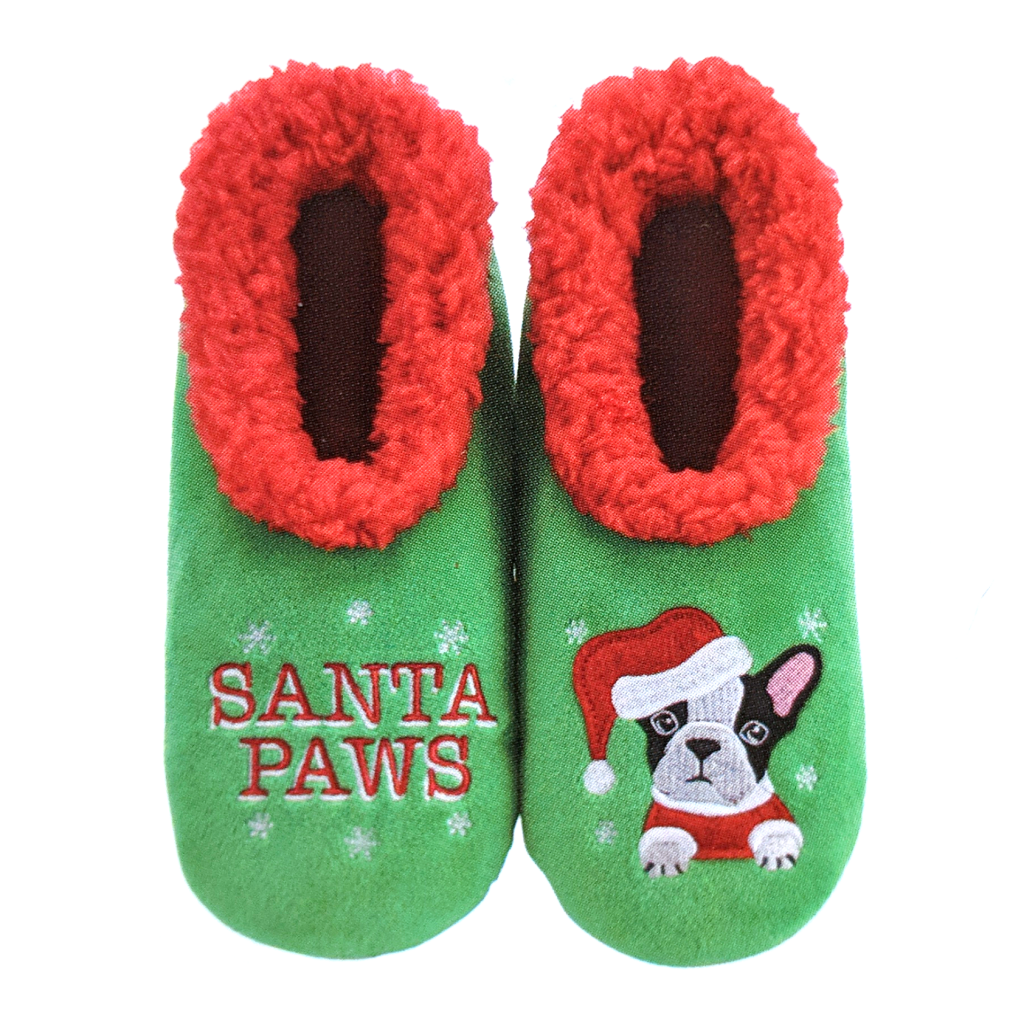 Snoozies: Santa Paws Dog Slippers