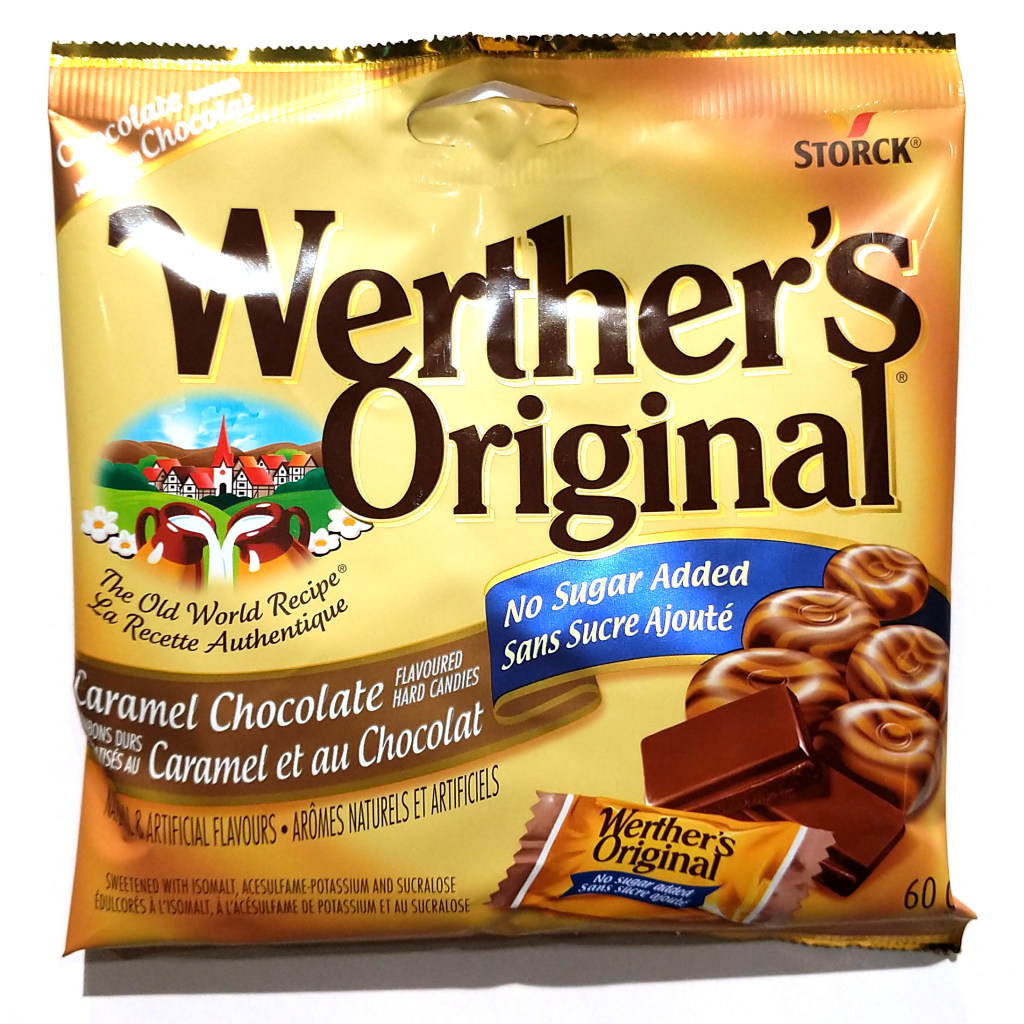 Werther's No Sugar Added Caramel Chocolate Candies (60g)