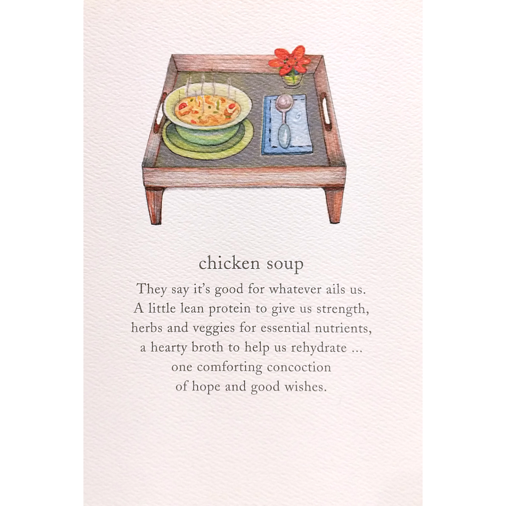 Get Well Card: Chicken Soup