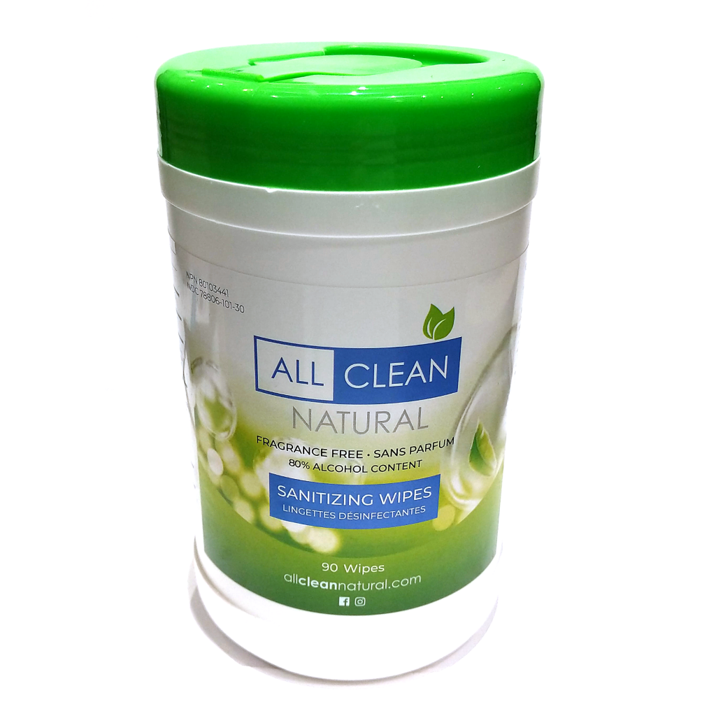 All Clean Natural Sanitizing Wipes (90pc)