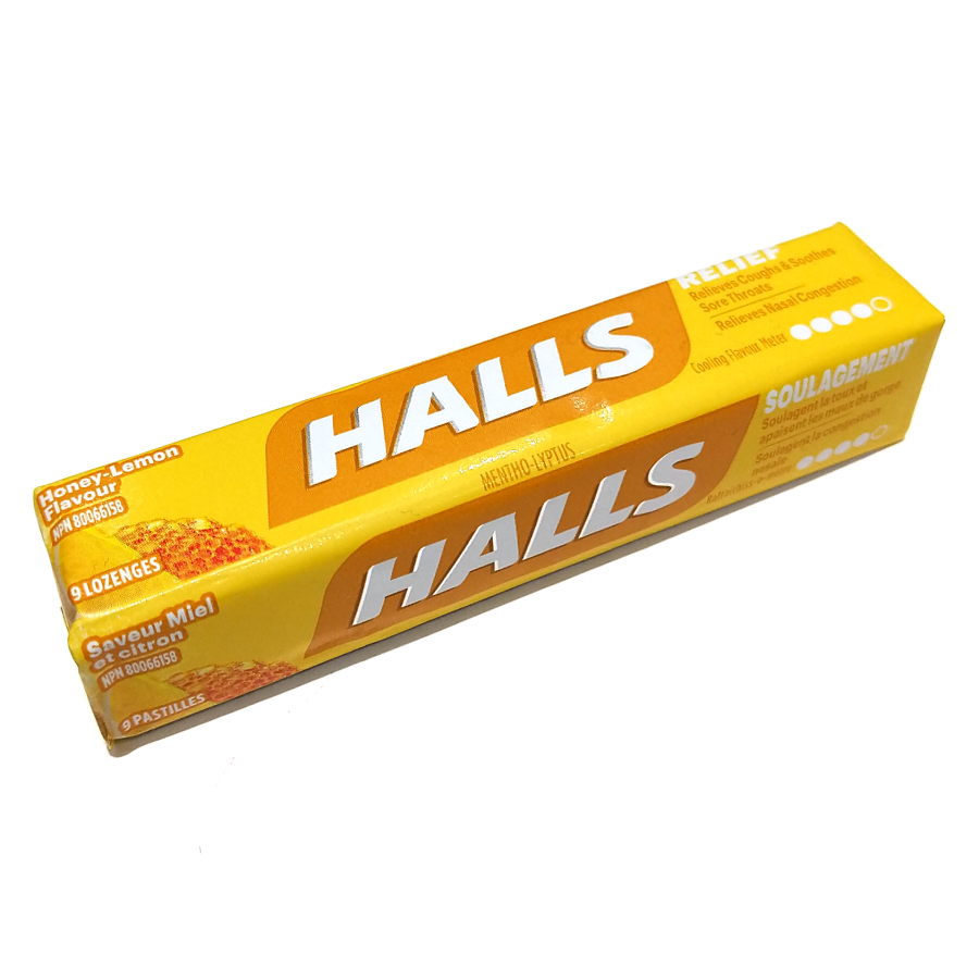 Halls Honey Lemon Lozenges (9pc)
