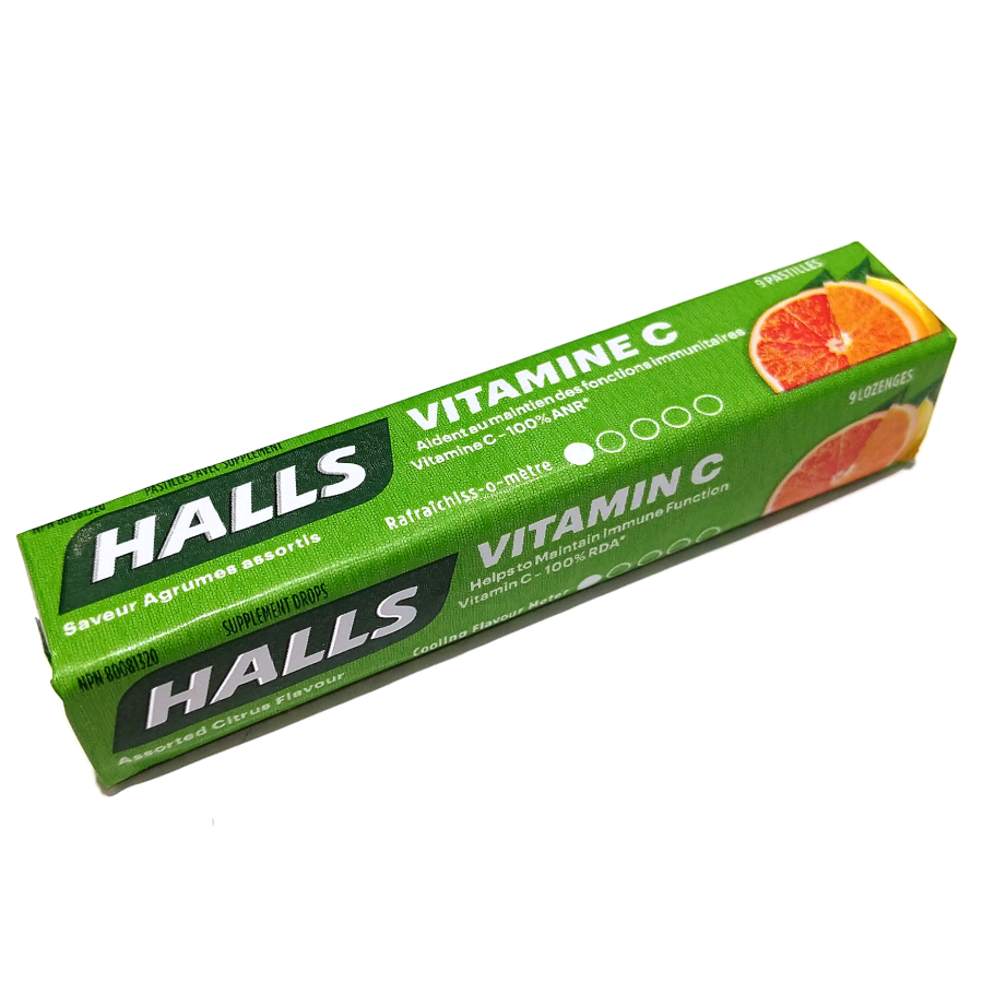 Halls Vitamin C Lozenges (9pc)