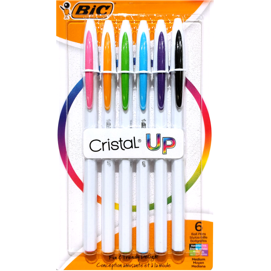 Bic Cristal Up Coloured Pens (6-Pack)