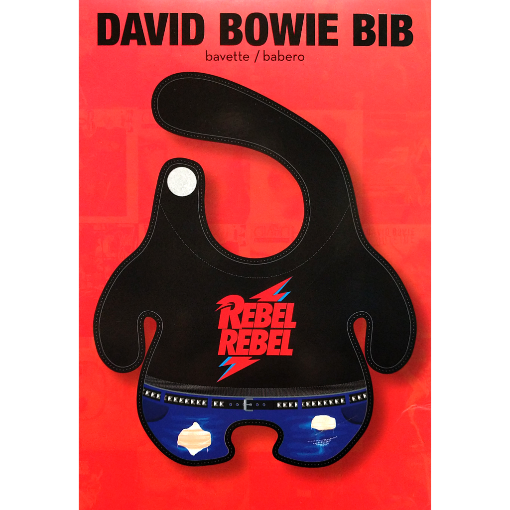 David Bowie Rebel Rebel Baby Bib