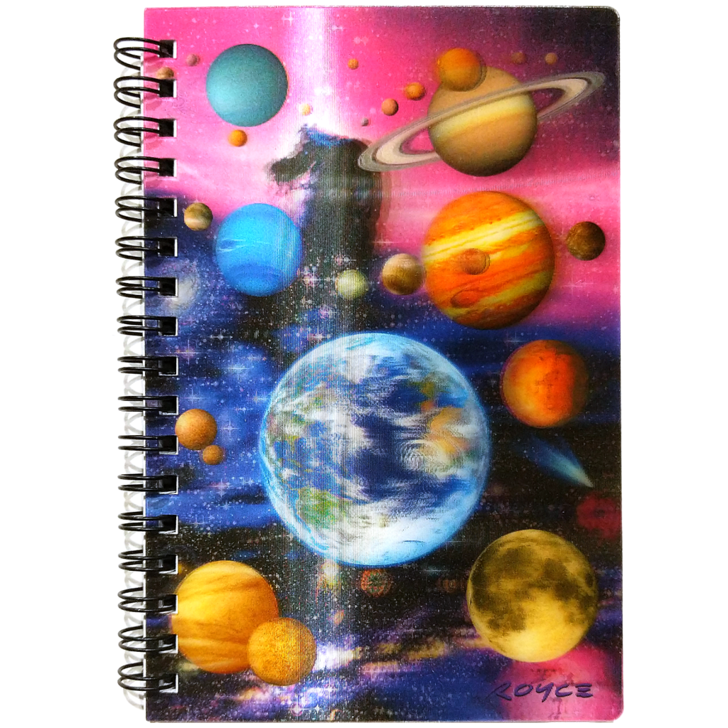 Planets Lenticular A6 Notebook