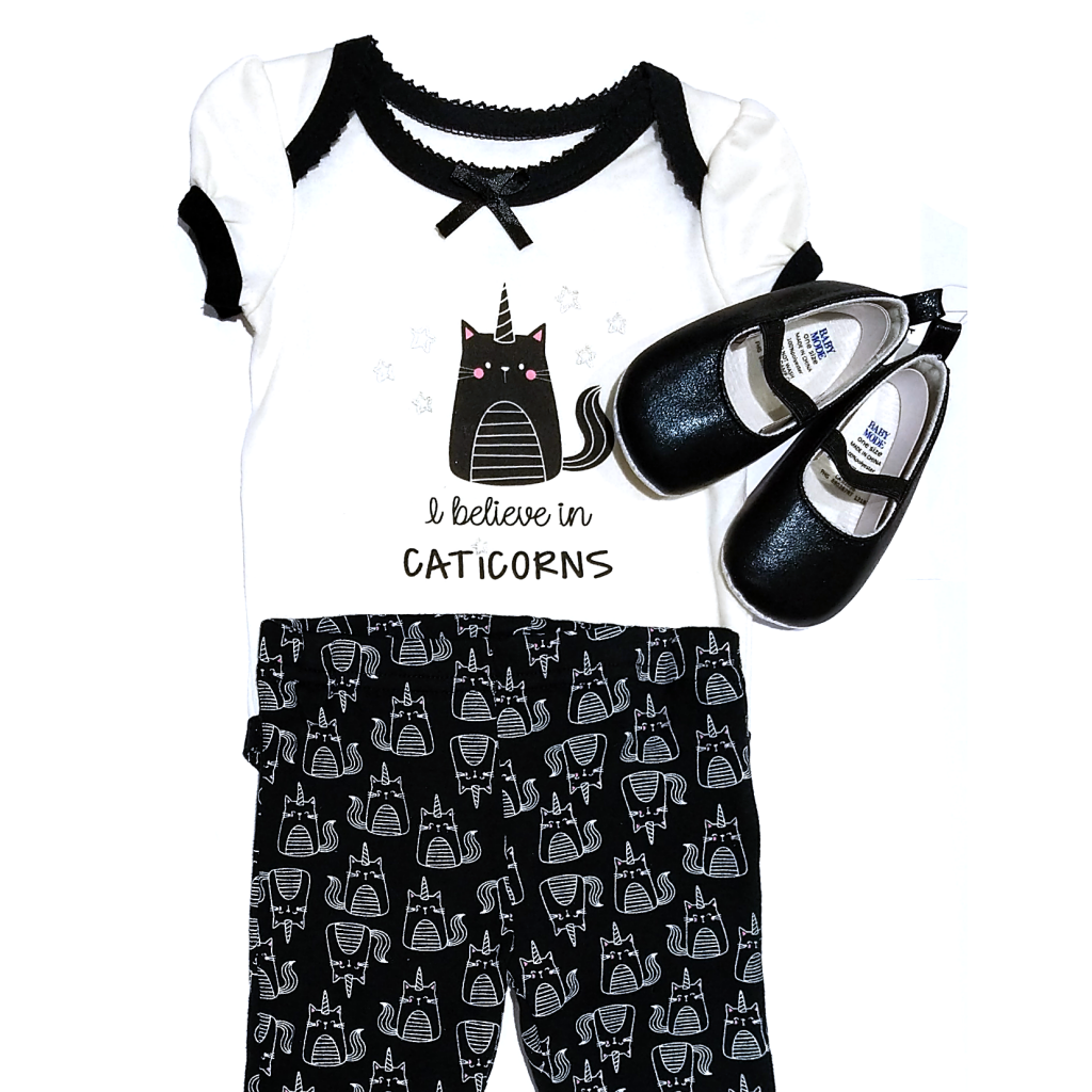 I Believe in Caticorns Baby Outfit