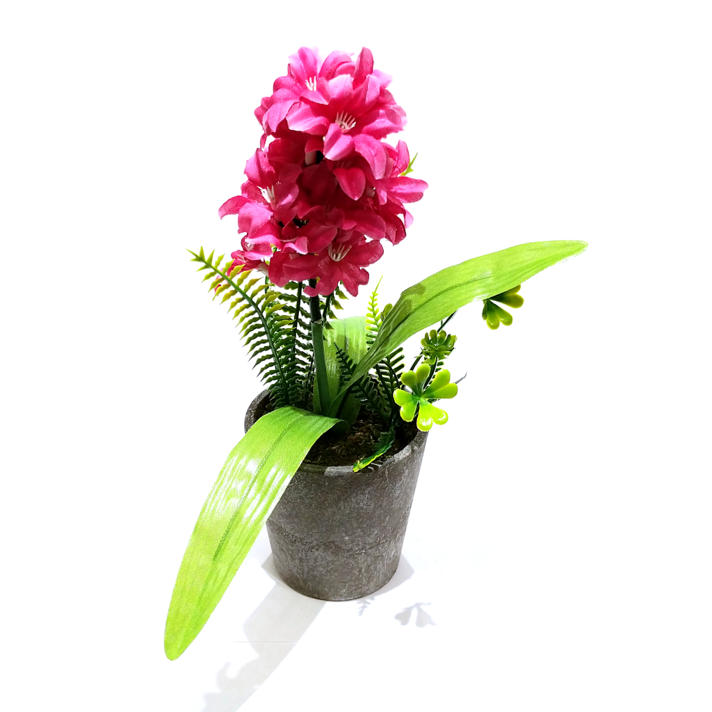 Pink Mini (Faux) Hyacinth in Vase