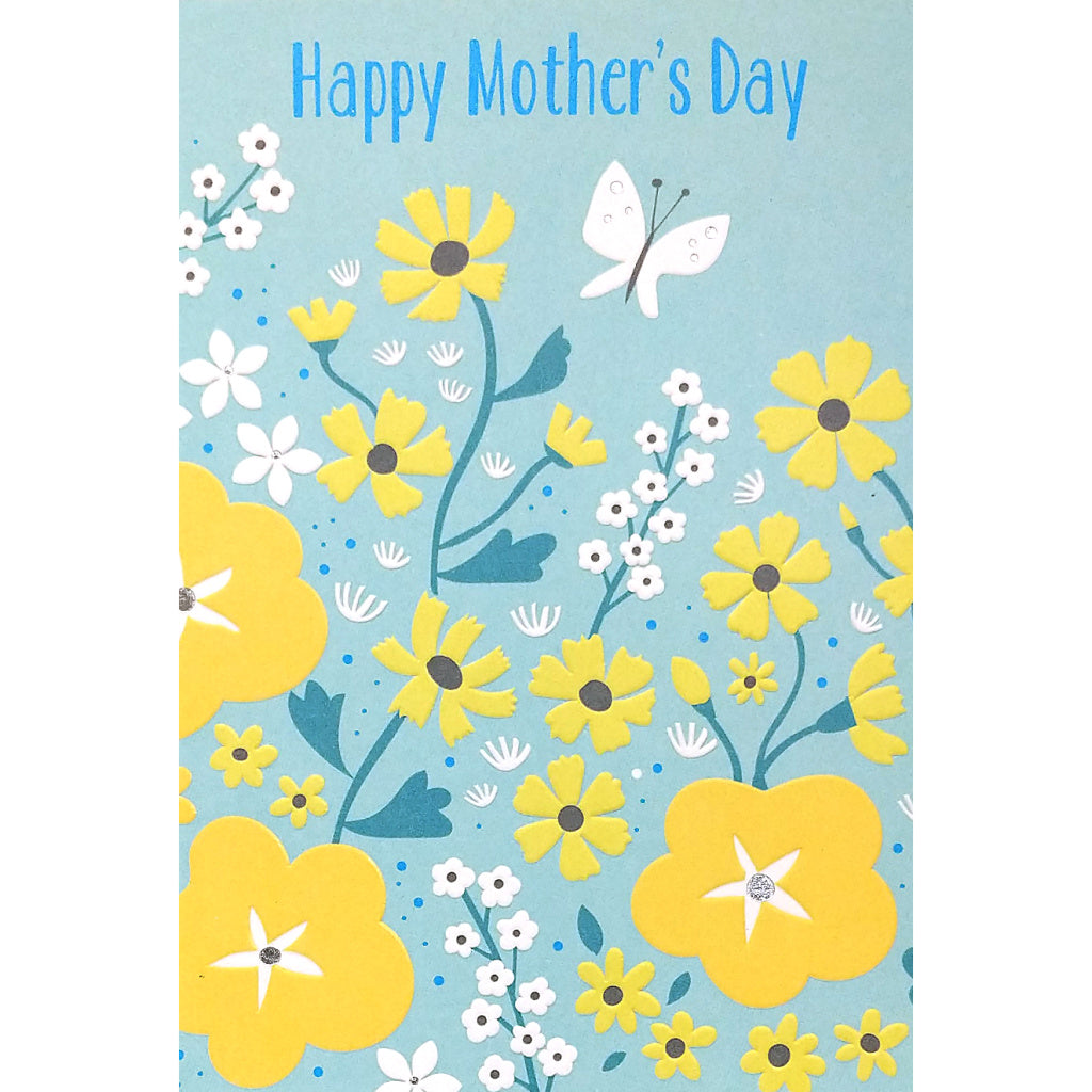 Mother's Day Card: Flowers & Butterfly