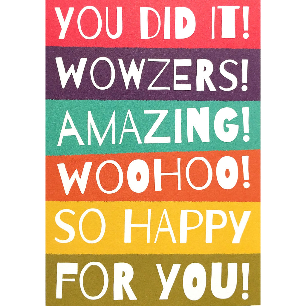 Congratulations Card: Wowzers!
