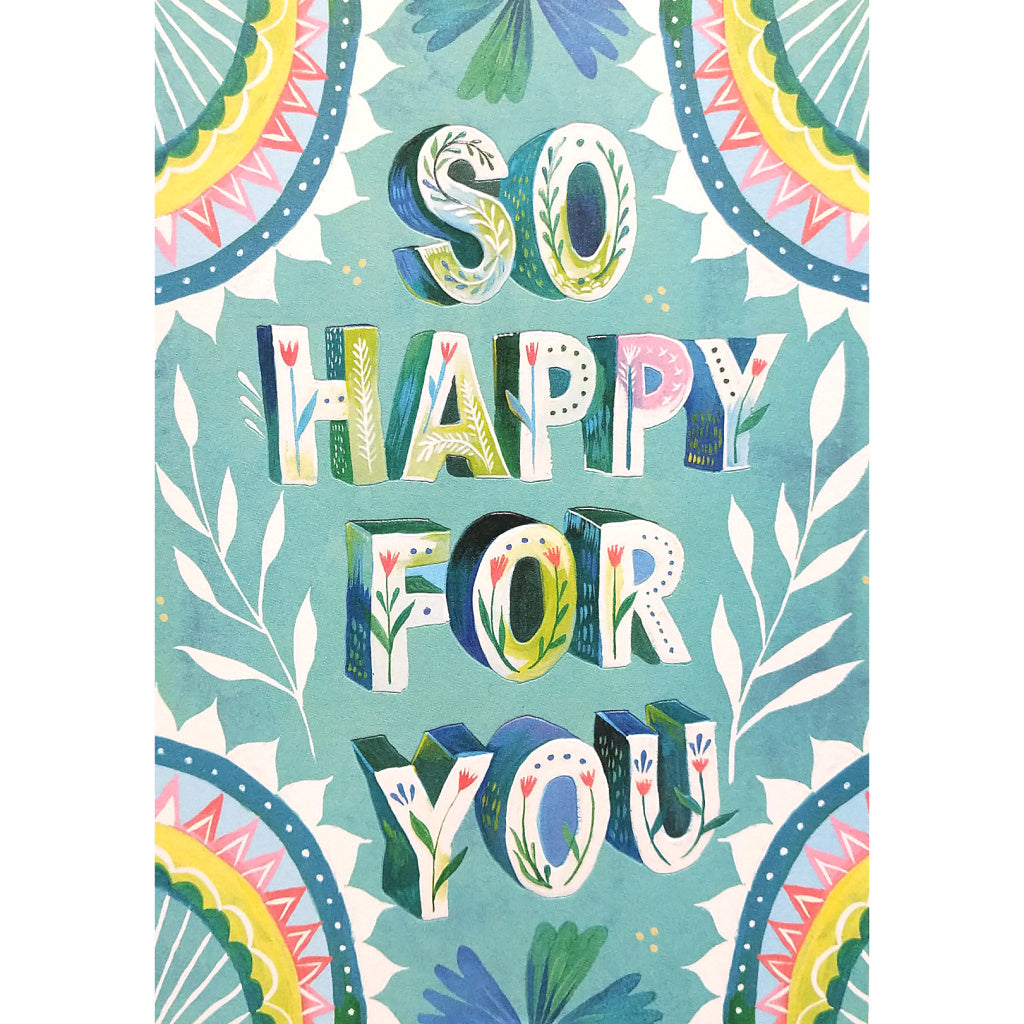 Congratulations Card: So Happy For You