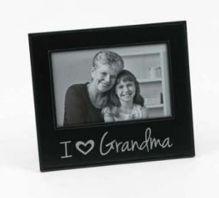 "I ""HEART"" Grandma Photo Frame"