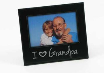 "I ""HEART"" Grandpa Photo Frame"