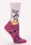 Blue Q - I'm Not Bossy Crew Socks