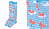 Yo Sox Knee High Womens - Flying Pigs